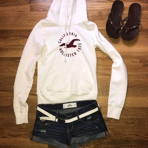 EUC Hollister hoodie and shorts